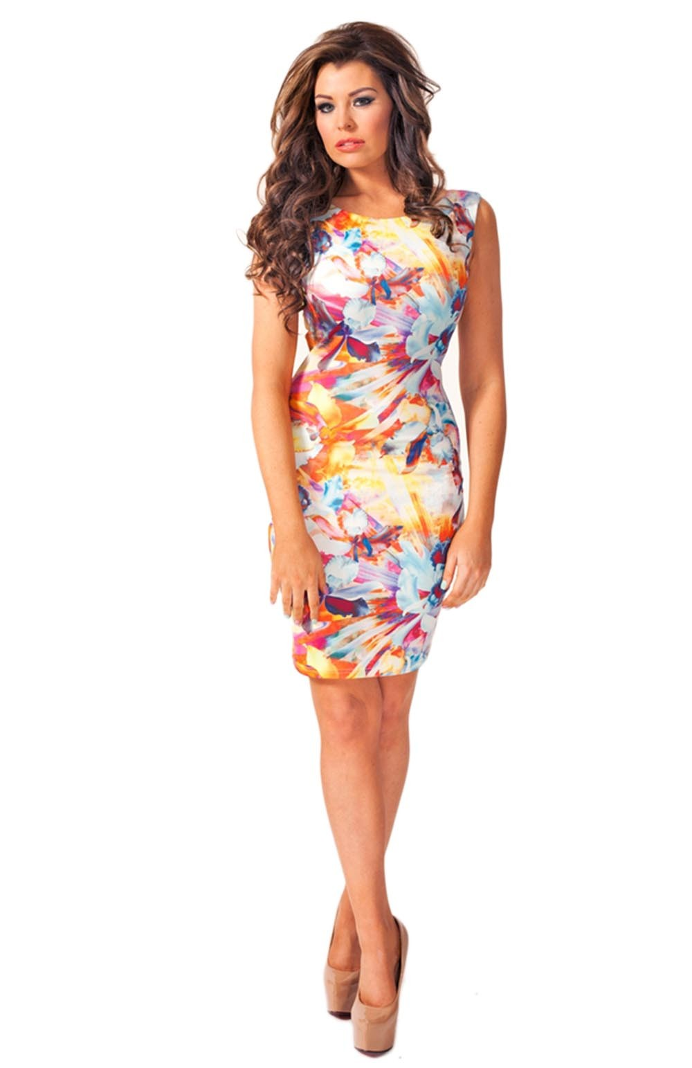 Jess Reversible Floral Bodycon Dress