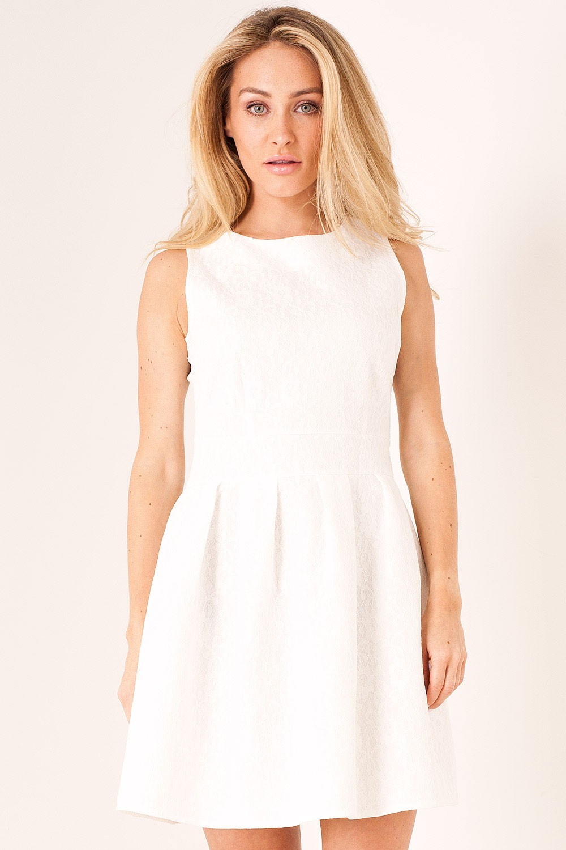 5c79ebe534 Shikha Sarah Lace Skater Dress in White