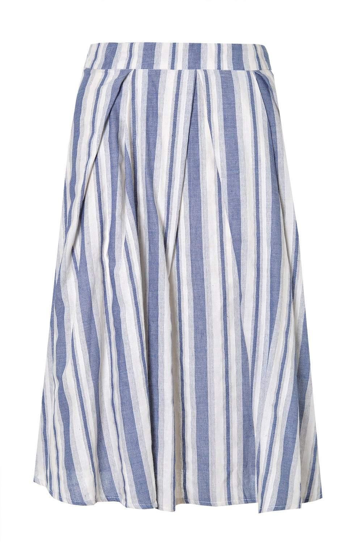 glamorous marina striped pleated skirt iclothing