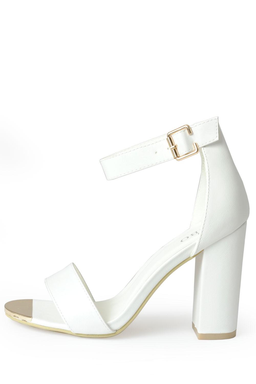 Indigo Footwear Aliya Strappy Block Heel Sandals in White