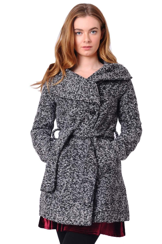 Sunny Tweed Wrap Coat | iCLOTHING