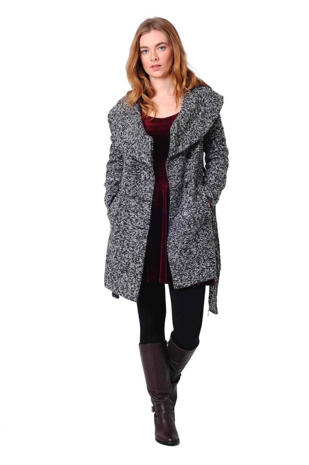 Sunny Tweed Wrap Coat