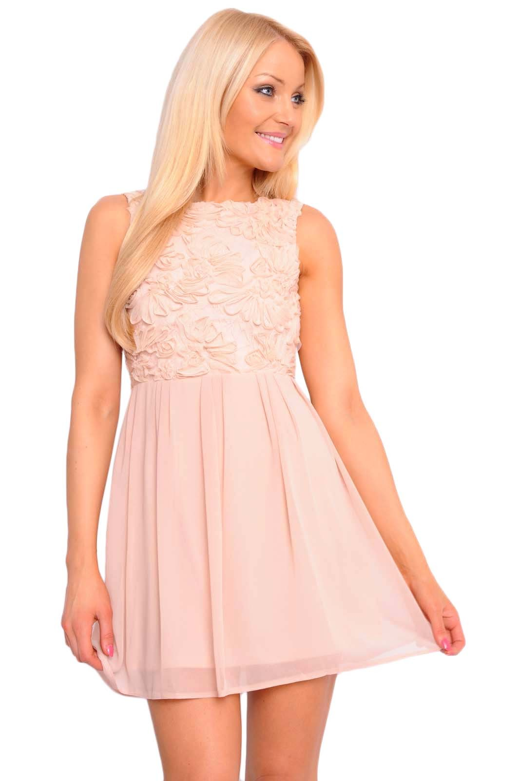 White floral lace skater dress