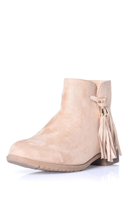 indigo footwear phoebe tassel ankle boots in beige suede iclothing. Black Bedroom Furniture Sets. Home Design Ideas