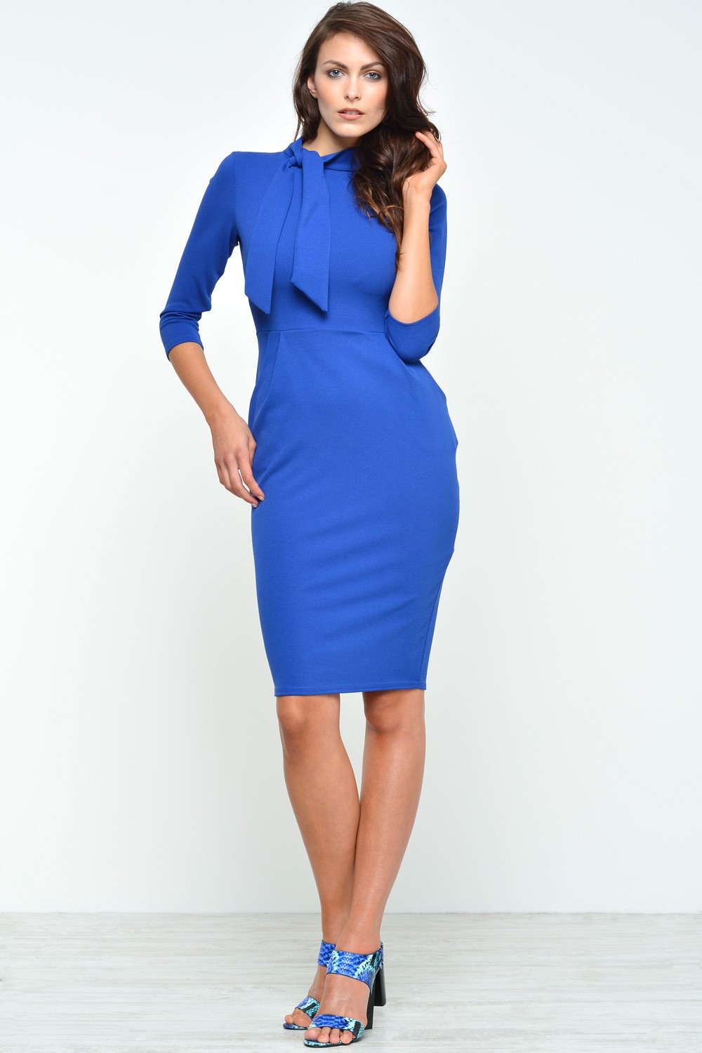 c3f9dea66323 More Views. Kylie Midi Dress With Pockets in Royal Blue