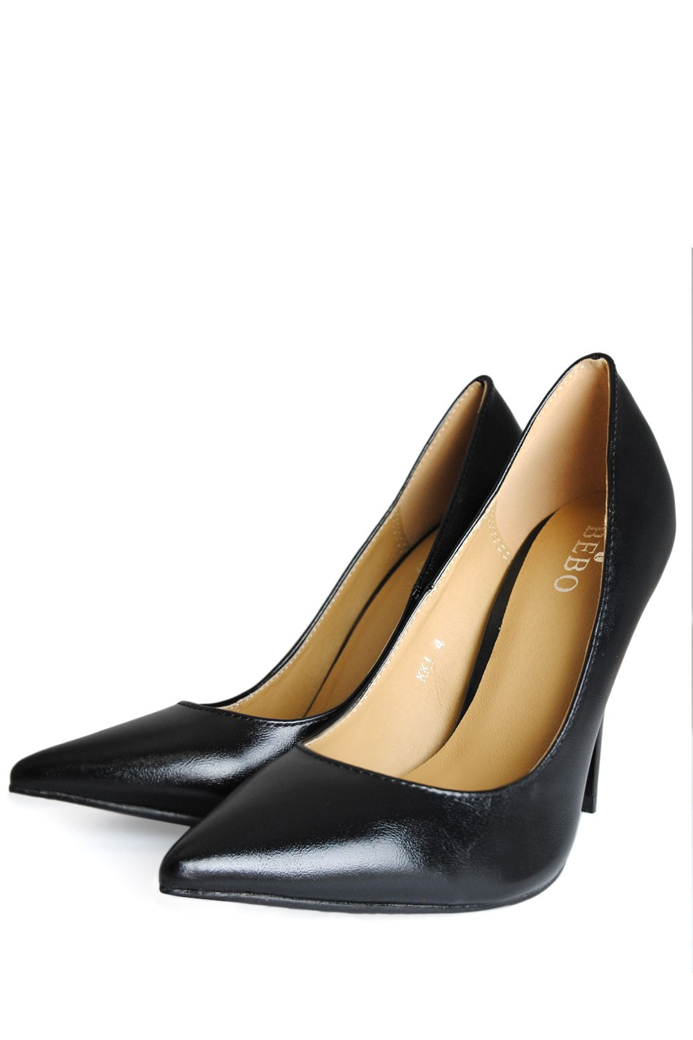 indigo footwear abby pointed court shoes in black iclothing