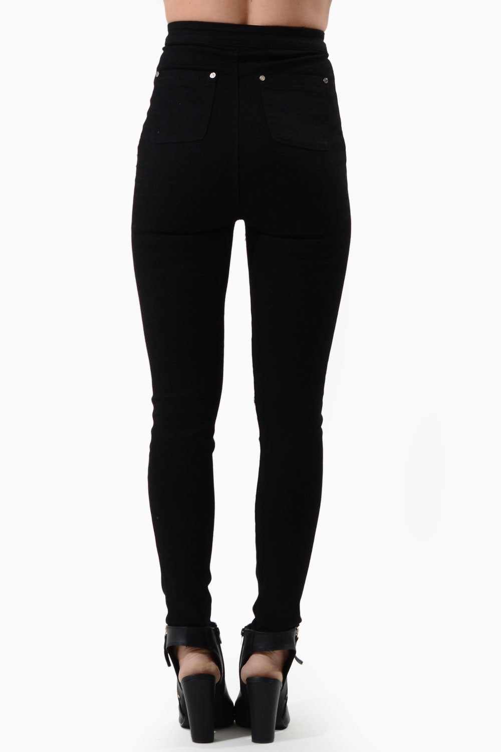 Lili High Waisted Black Jeans