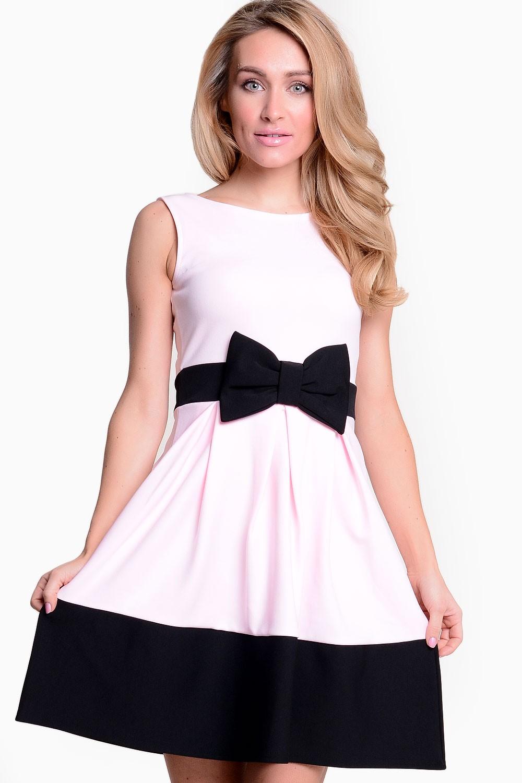 7ca293ab9af8 Evita Alba Contrast Bow Skater Dress in Pink