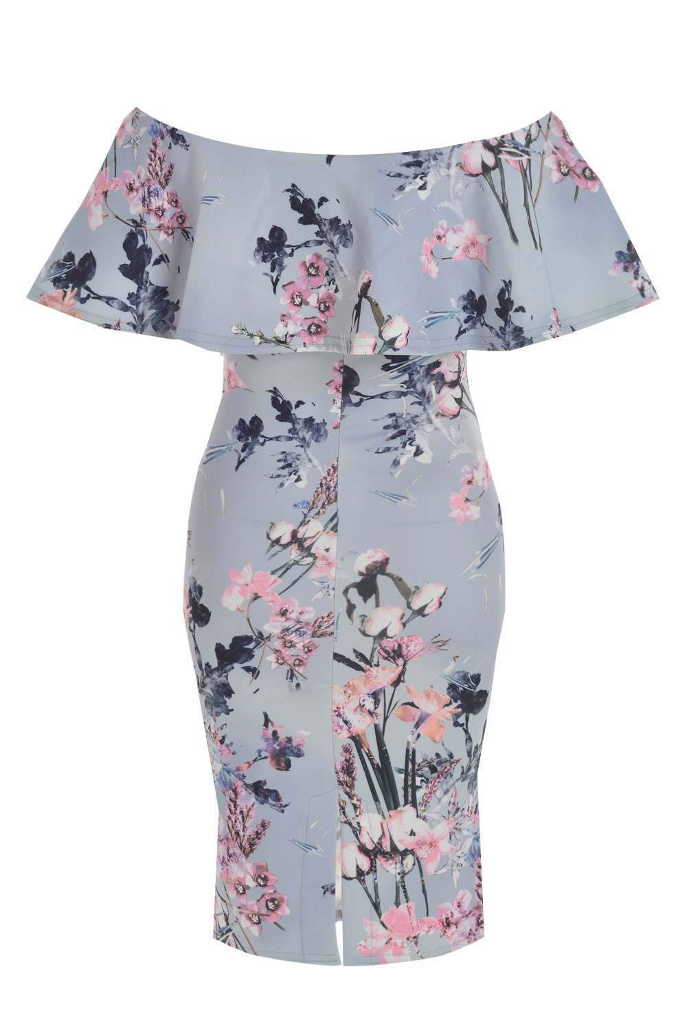 74f21d7f623b More Views. Philis Floral Off Shoulder Bodycon Dress in Grey
