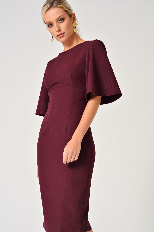 9767303c0019 ... Emma Midi Dress in Burgundy. Video