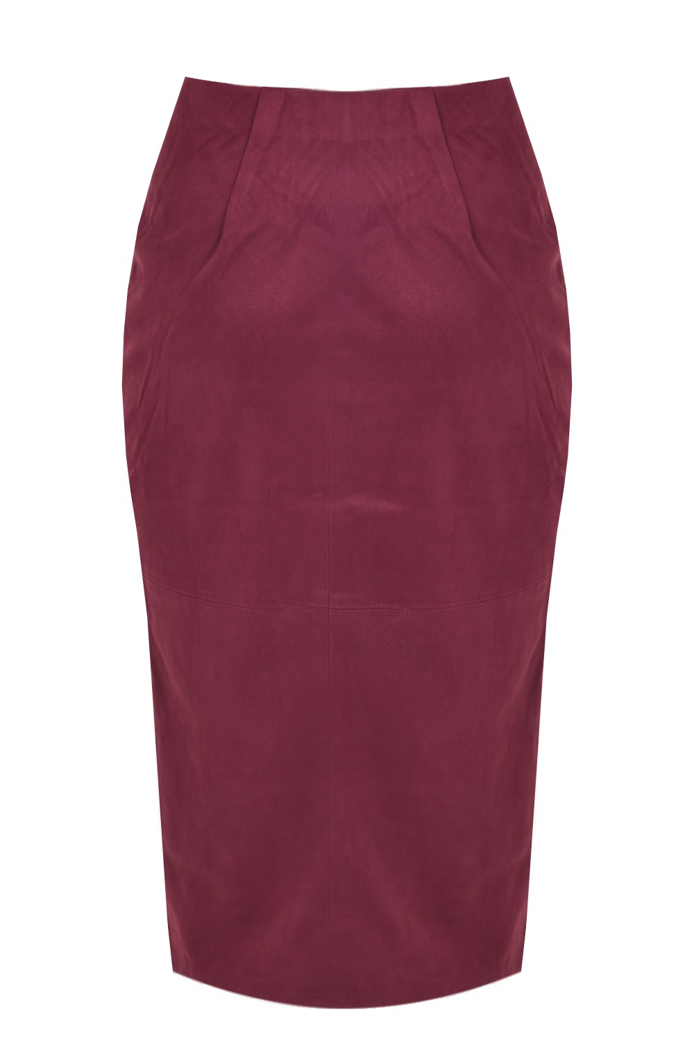 glamorous suedette pencil skirt in burgundy iclothing