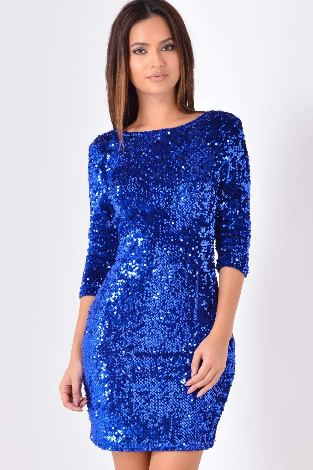 Marc Angelo Alison Sequin Bodycon dress in Royal Blue ...