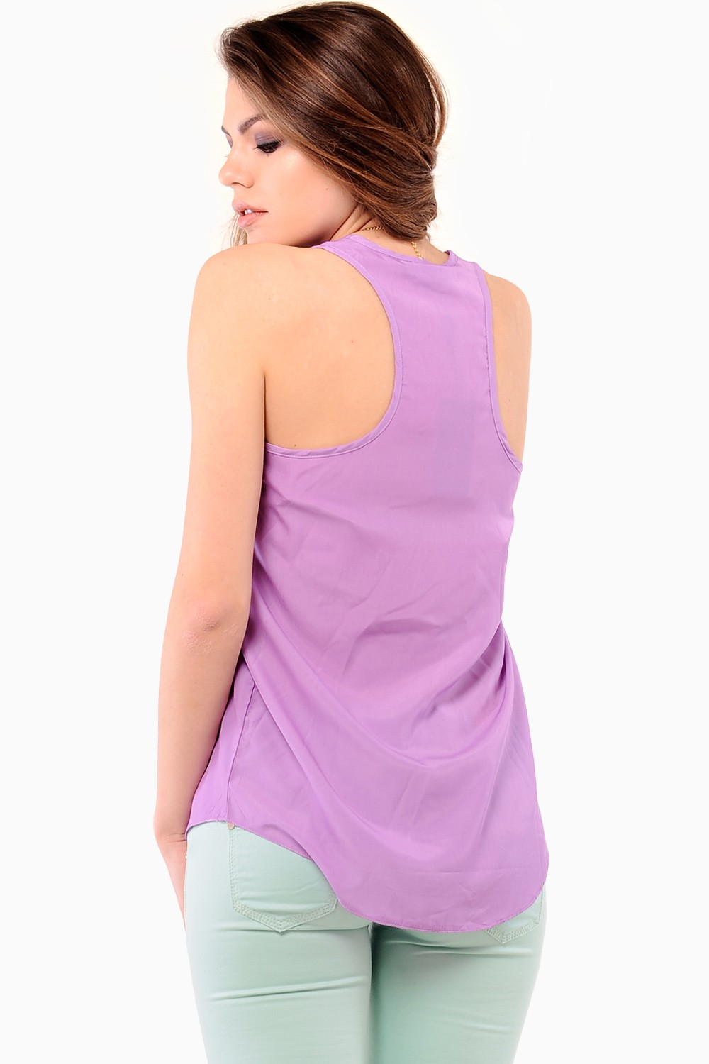 Marc Angelo Astrid Tank Top In Lilac