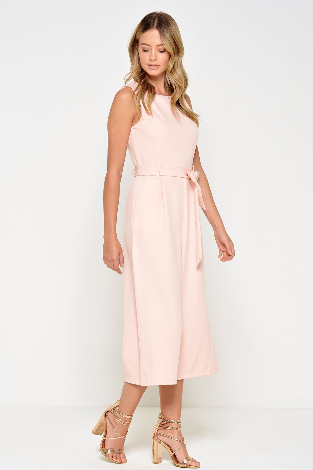 1ad39bd611c More Views. Layla Longline Culotte Jumpsuit in Blush. Marc Angelo