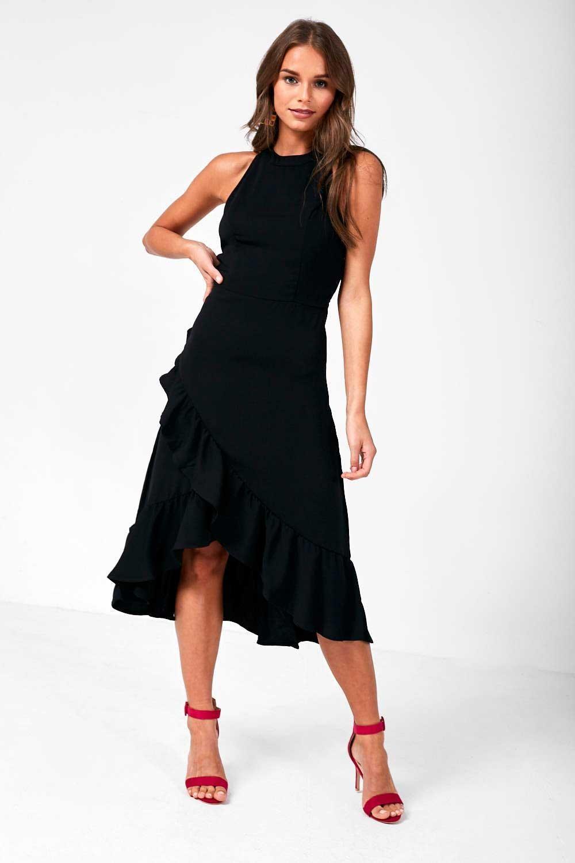 Vila Mokaia Halter Neck Dress in Black