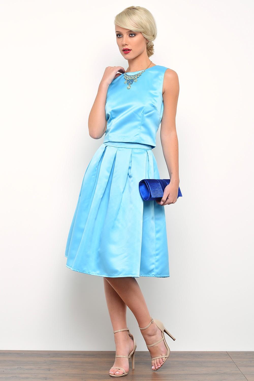 Blue Full Skirt 17