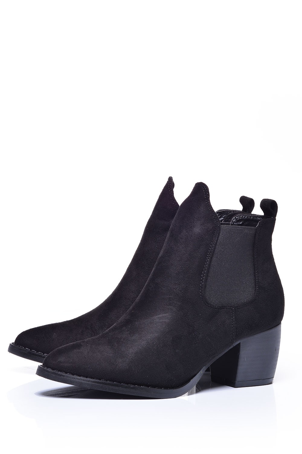 no doubt paula pointed toe ankle boots in black suede
