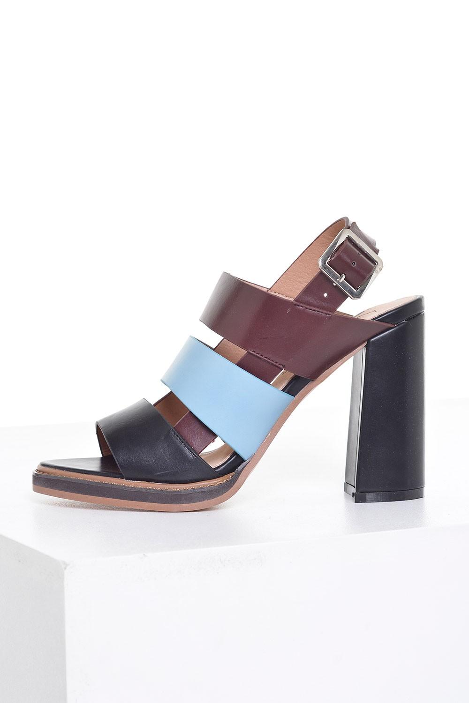becabdfc33 Vanessa Wu Nina Tricolour Block heel Sandals | iCLOTHING