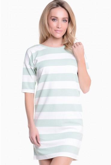 May Stripe Tunic Dress in Green