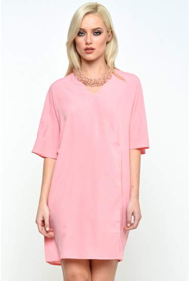 Elouise Oversized Top in Pink