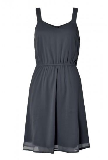 Mona S/L Short Dress in Black