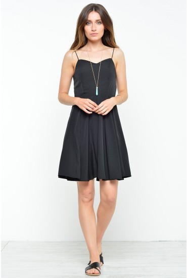 Mona Smock Singlet Short Dress in Black