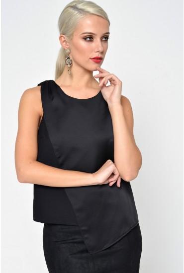 Ninaz S/L Assymetric Top in Black