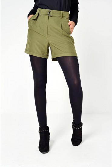 Tensa HW Shorts in Khaki