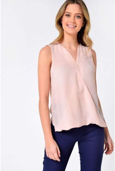 Rina SL Wrap Top in Natural