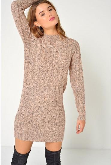 Amanda Jive Knit Dress in Blush