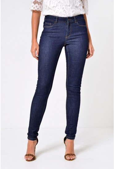 Seven Short Shape Up Jeans in Dark Blue