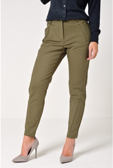 Victoria Short Ankle Pants in Khaki