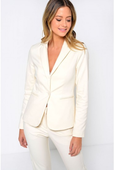 Victoria LS Blazer in Cream