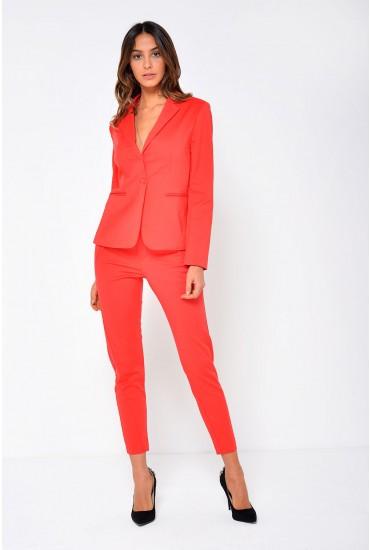 Victoria LS Blazer in Red