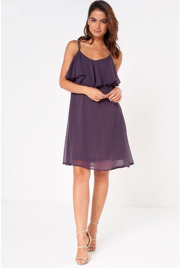 Lollie Singlet Short Dress in Purple