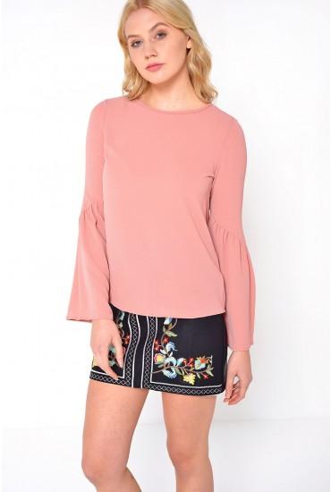 Flori Flair Top in Rose