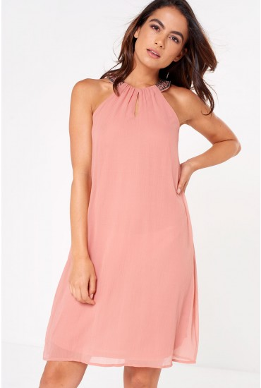 Madison Bead Dress in Rose