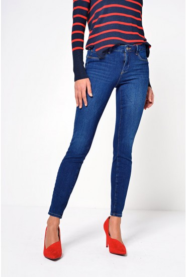 Icon Regular Push Up Jeans in Dark Blue