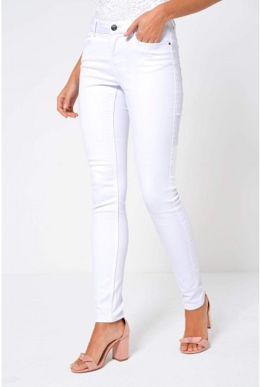 Seven Petite Shape Up Jeans in White