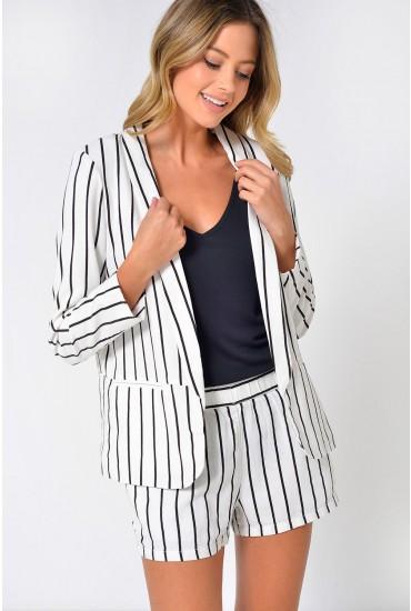 Asta Striped Blazer in Black