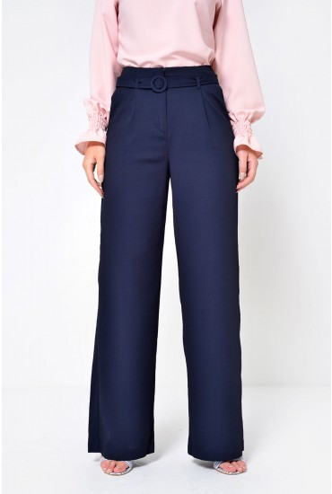 Emmy Selma Wide Pant in Navy