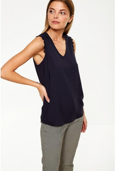 Lacey Boca Top in Navy