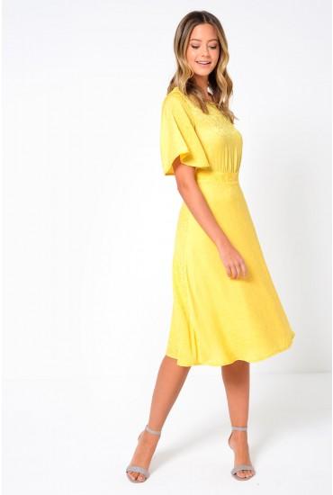 Lou Calf Dress in Yellow