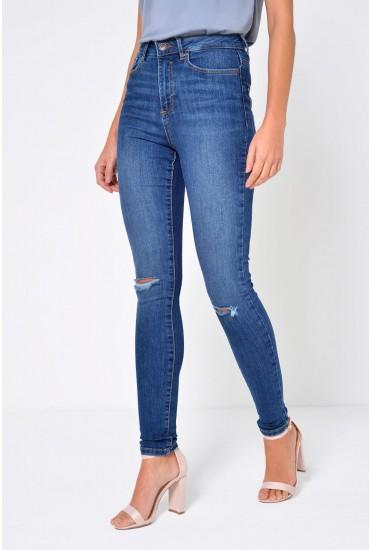 Sophia Short Skinny Destroy Jeans