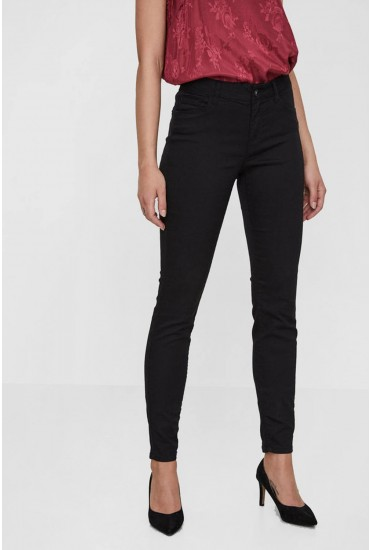 Seven Regular Slim Push Up Pants in Black