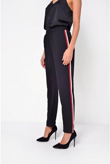 Emma Side Stripe Pants in Black