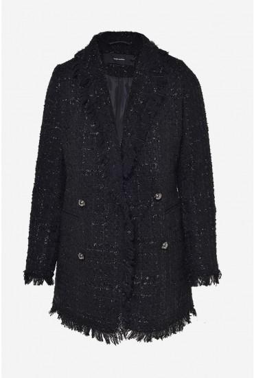 Sparkle Boucle Blazer in Black