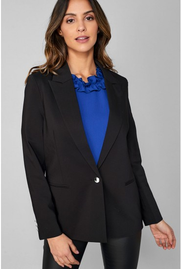 Valentia Tailored Blazer in Black