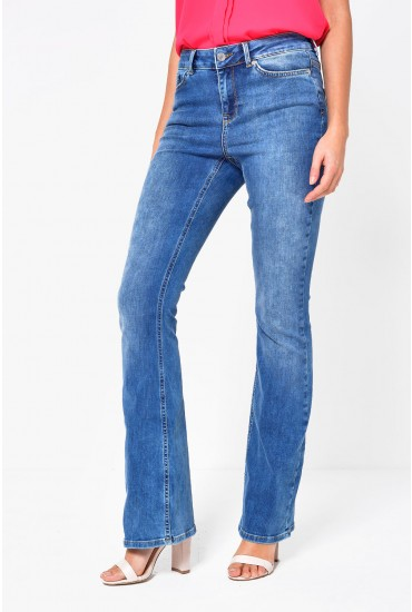 Laura Short Slim Bootcut Jeans