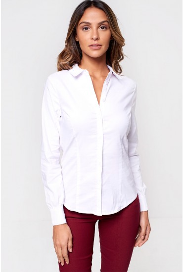 MIlian Fitted Shirt in White